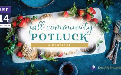 Fall Community Potluck & Boutique